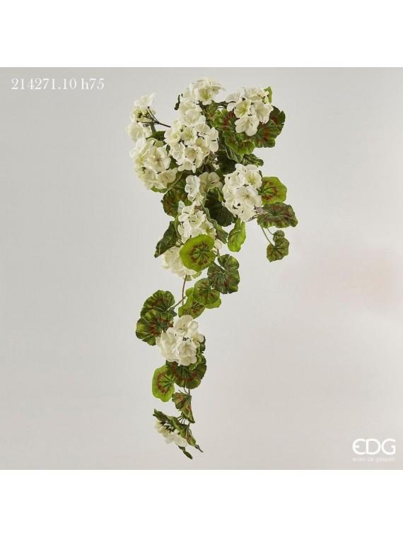 Edg geranio prix cadente bianco h75