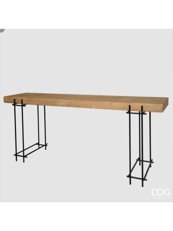 Edg consolle kurtis legno met h80 180 46