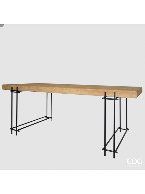 Edg tavolo kurtis legno met h78 200 90