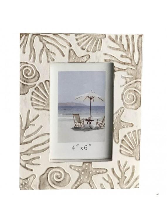Portafoto legno mare bianco cm17x22h2