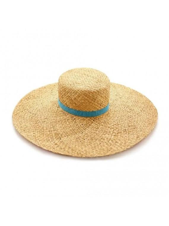 Cappello paglia visiera grande stampato