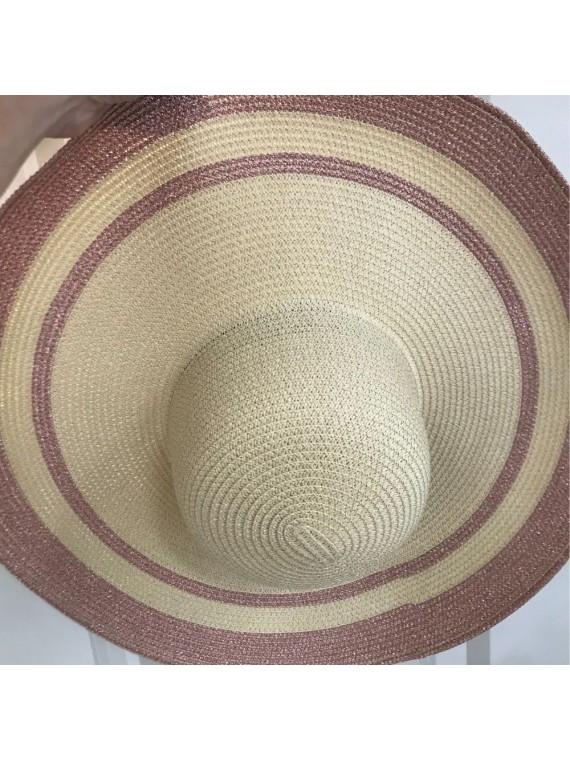 Cappello paglia tesa larga stampato
