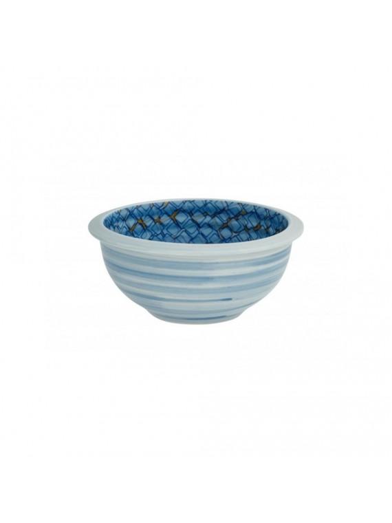 Brandani ciotolina caos blu arancio set 2 pezzi porcellana